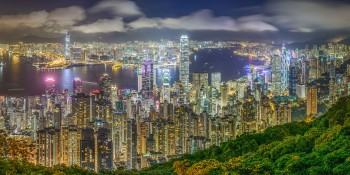 Hong Kong skyline viewed from Victoria Peak
