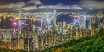 Hong Kong skyline viewed from Victoria Peak