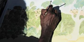 Gloria Pannka painting