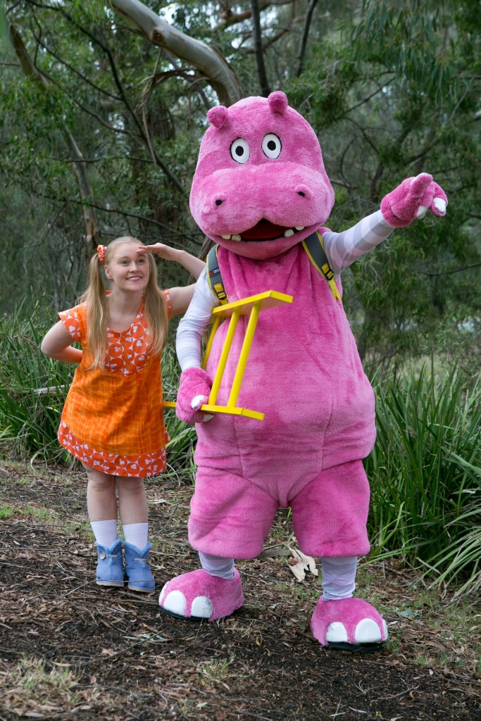 Kaisha Durban as 'girl', and Hippo.