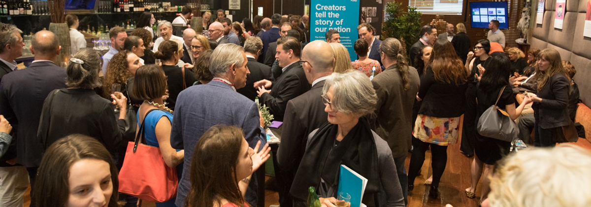 Guests at the Copyright Agency | Viscopy showcase event. Photo: Tim Levy.