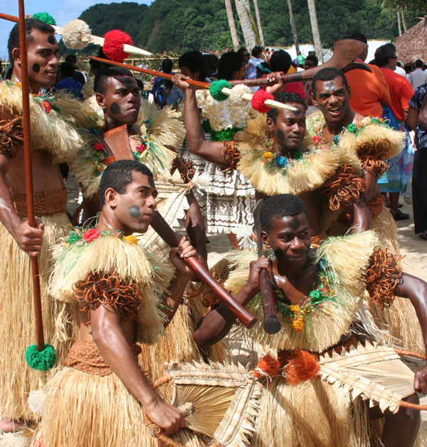 The Kabanivanua Fijian dance group perform at the 10th Festival of the Pacific Arts in American Samoa, 2008. Image courtesy of SPC.