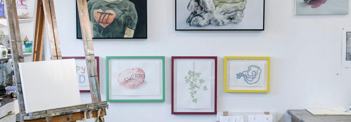 Artist Amanda Marburg's studio [Photo © Olivia Tran]