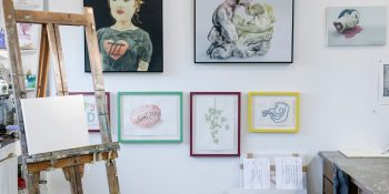 Artist Amanda Marburg's studio [Photo © Olivia Tran]